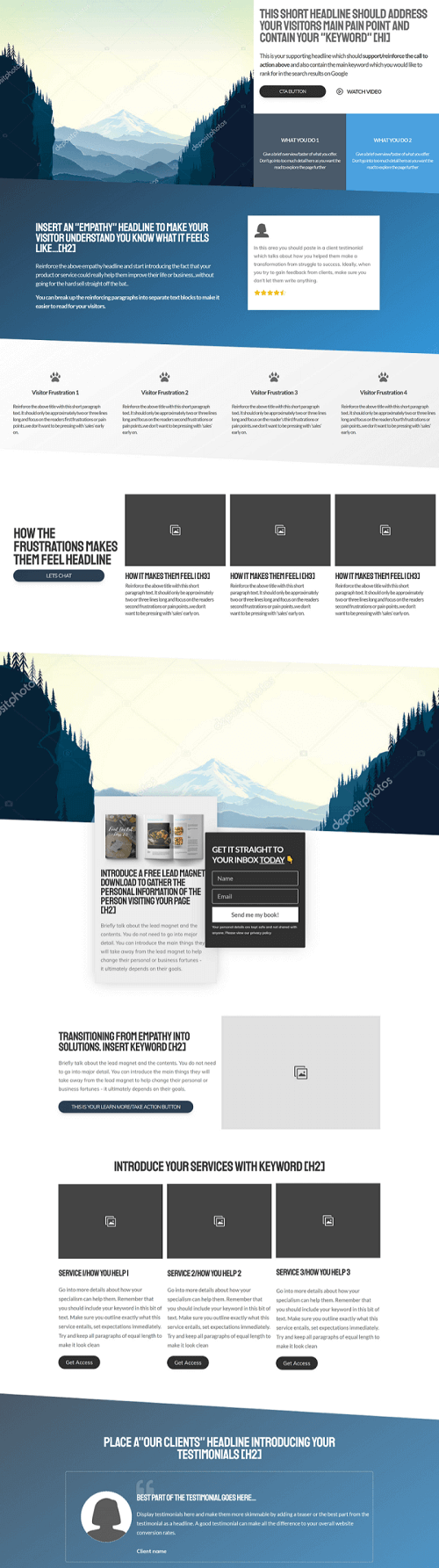 Thrive landing page templates for Thrive Architect